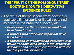 Chapter 9 The Exclusionary Rule  Ppt Video Online DownloadFruit Of Poisonous Tree Doctrine Definition