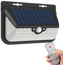 68 led solar lights outdoor with remote control 800 lumens wireless waterproof