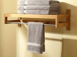 wooden towel rack with shelf bathroom racks for multiple towels home design ideas intended wood stand h95 wood