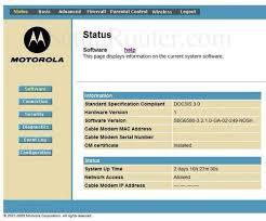 motorola 6580. motorola sbg6580 home screen 6580