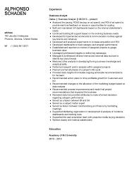 Business Analyst Resume Sample Velvet Jobs