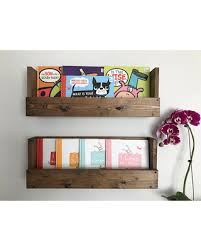 Nursery book shelves, Set of 2 book shelves, Wall book shelves, Rustic book