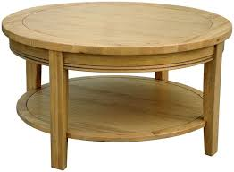 round oak coffee table loire with claw feet mission