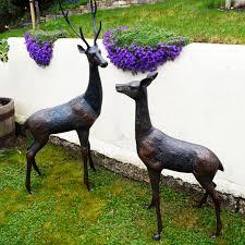 grand deer bronze statues metal garden ornaments