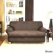 3 piece t cushion sofa slipcover sure fit sofa slipcover sure fit stretch leather 2 piece