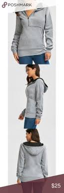 <b>Flocking Front Zip Hoodie</b> - Gray Specification Color: GRAY Size: S ...