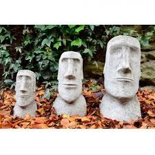 easter island heads set moai stone garden ornament statue main picture thumb thumb