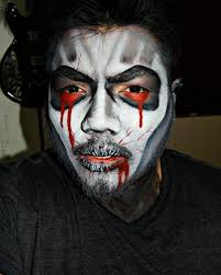 men s dracula makeup idea
