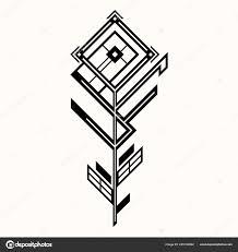 сакральная геометрия тайный символ геометрии черный этнических