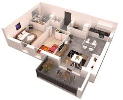 Modern Apartment Floor Plan With Dimensions Modern House Floor Modern Apartment Floor Plans