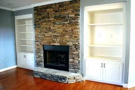 stone tile for fireplace surround gas ideas install stacked