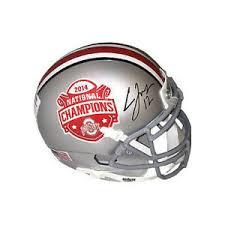 Details About Cardale Jones Signed Ohio State 2014 National Champs Mini Helmet Jones Hologram