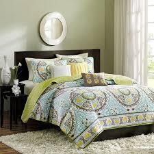microfiber comforter green teal brown