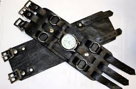 elvis leather wrist strap with watch 786 p jpg