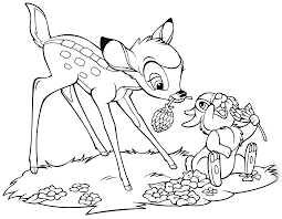 Subscribe and be the first! Walt Disney Coloring Pages Bambi Thumper Personagens De Walt Disney Fotografia 40244908 Fanpop