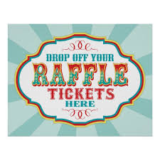 raffle sign carnival or circus raffle ticket booth sign zazzle com