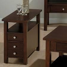 Dark Coffee Table With Dark Narrow Nightstand And Simple Amerock Plus Beige  Area Rugs
