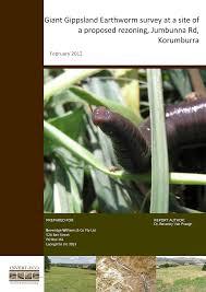 Giant Gippsland Earthworm Surveys at ...