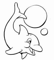 Very Cute Baby Dolphin Animal Coloring Pages Free Printable Coloring