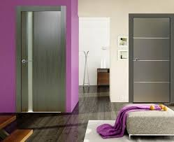 valencia graphite finish modern interior door w frosted glass liberty windoors