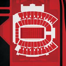 Jones At T Stadium Map Art