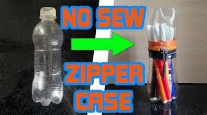 Diy Water Bottle Diy For Kids No Sew Zipper Case From Water Bottle Very Easy