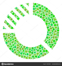 Pie Chart Collage Of Dots Stock Vector Ahasoft 189673858