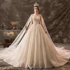 Luxury / Gorgeous <b>Champagne Wedding</b> Dresses 2019 A-Line ...