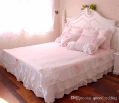 pink ruffle princess cotton duvet cover wedding bedding set queen king twin size sheets western bright comforter duvet set king duvet cover clearance