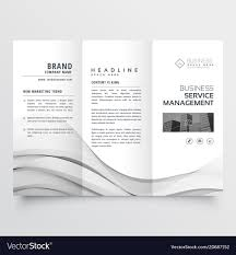 Trifold Brochure Size Clean Minimal Trifold Brochure Template Layout Vector Image