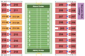 Alerus Center Seating Chart North Dakota Fighting Hawks Vs Montana State Bobcats