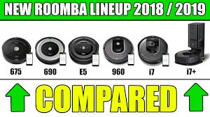 Roomba Comparison Chart New Roomba Models Compared I7 Vs I7 Vs 675 Vs 690 Vs E5 Vs 960 Vs 980