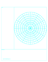 Printable Cornell Note Paper With Polar Grid