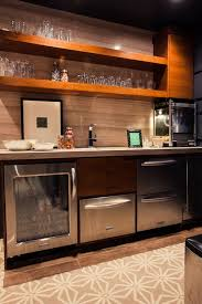 basement wet bar glass shelves floating shelves with bar 18 image wall