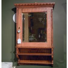 antique medicine cabinet within the