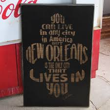 >new orleans subway wood sign cling creative living new orleans lives in you wood sign wall art handmade