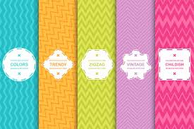 Colorful Patterns Impressive Zigzag Seamless Colorful Patterns By Ex Design Bundles