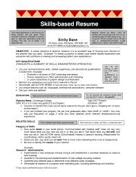 Skills Based Resume Sample Skills Based Resume Example Staruaxyz 13