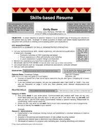 Skills Based Resume Sample Skills Based Resume Example Staruaxyz 13
