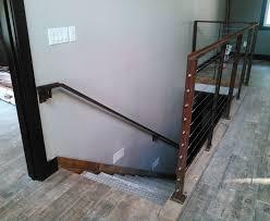 steel stair railing. 2-Stair-Railing-galvanized Steel Steps-looking-down-RAW Metal Stair Railing