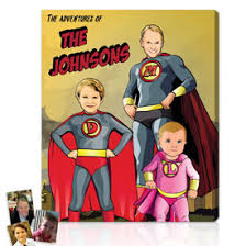 Personalized Superheroes Comic Book Artwork Gifts Superhero Gifts On Canvas