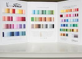 Finca Perle Cotton Color Chart Color Cards Coriander Quilts