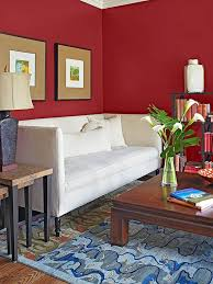 red wall paint living room colors