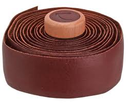 cardiff genuine leather handlebar tape brown