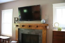 fireplace mantels with tv above for creative of fireplace mantel ideas with tv above amys office