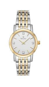 bulova men s and women s watches 105 for a ladies diamond watch silver gold 98p115 250 list price