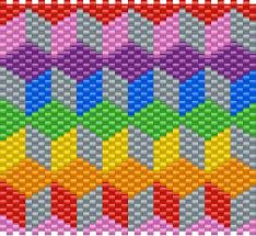 3d Patterns Mesmerizing 48D BLOCK PATTERN Pony Bead Patterns Misc Kandi Patterns For Kandi
