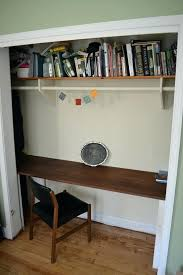 desk in closet brilliant closets turned into space saving office nooks