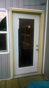 modifying an old green screen door to fit over a new gl exterior door on my