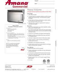 Heavy Duty Microwaves Amana Hdc18sd2 Heavy Duty Commercial Microwave Oven 1800 Watts